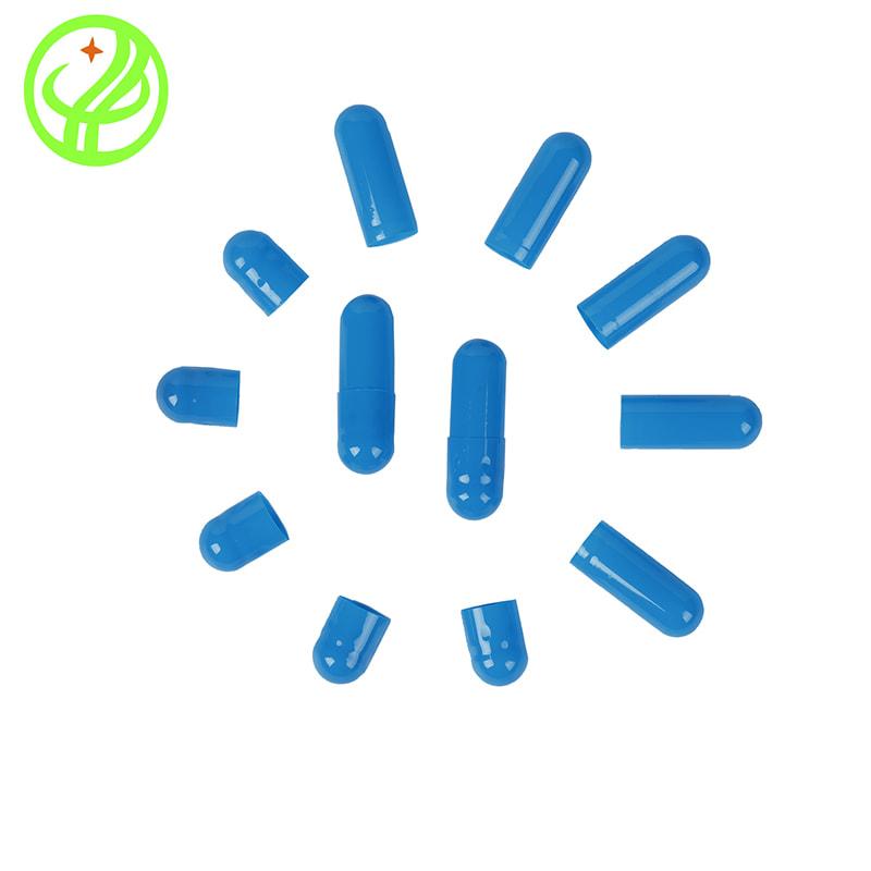 Blue-Gelatin capsule