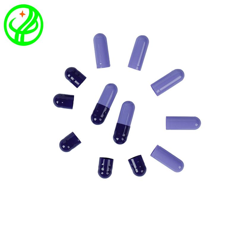Dk purple Lt. purple-Gelatin capsule