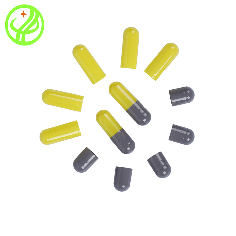 Grey Yellow-Gelatin capsule