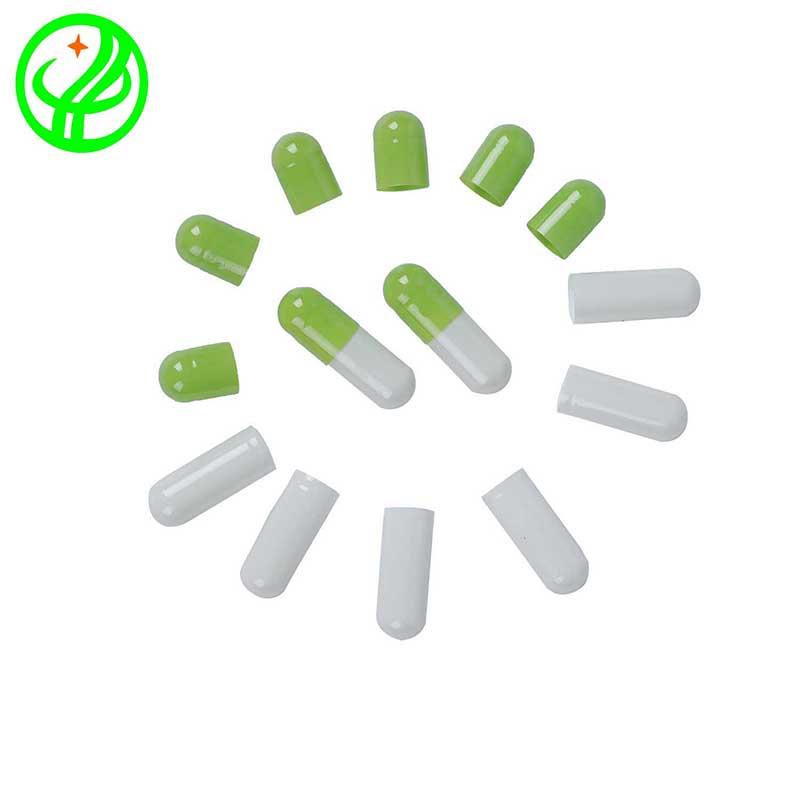 Lt. green whit-Gelatin capsule