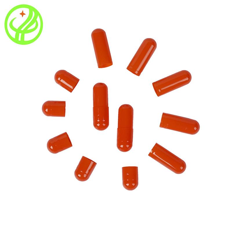 Orange-Gelatin capsule
