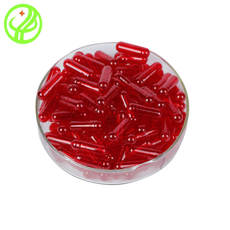 Red transparent-HALAL Capsule
