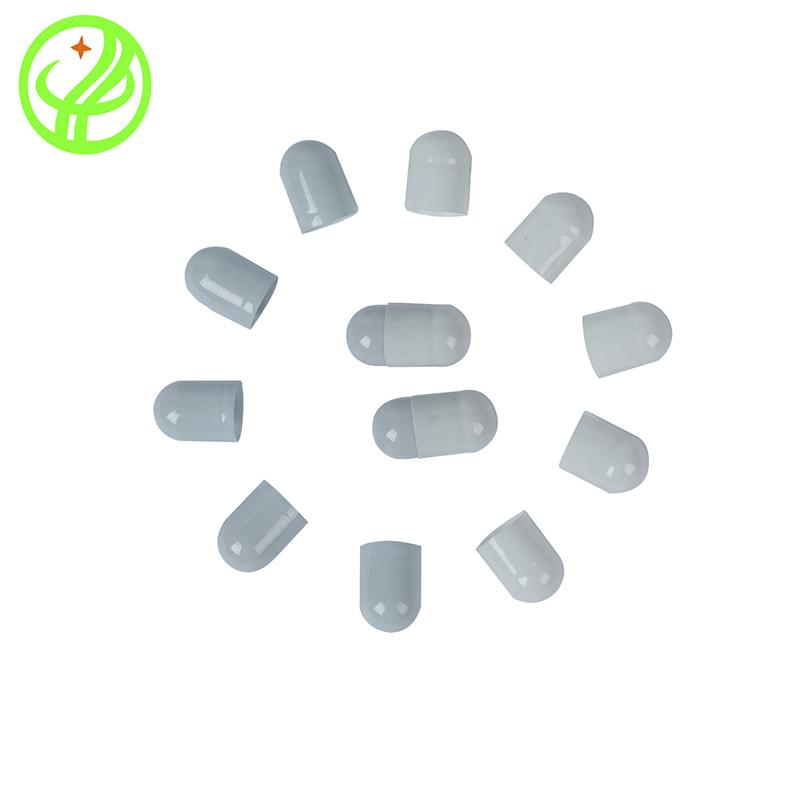 White Grey-Gelatin capsule