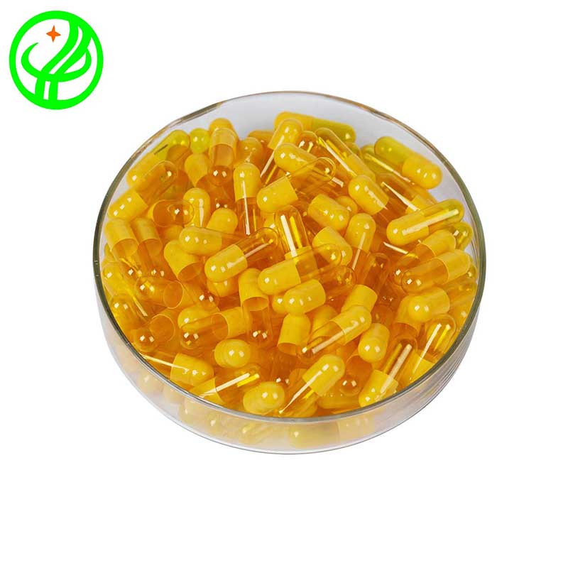 Yellow yellow transparent-HALAL Capsule