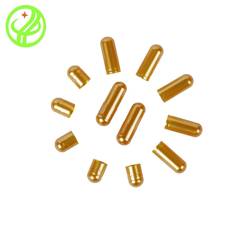 Gold-Gelatin capsule