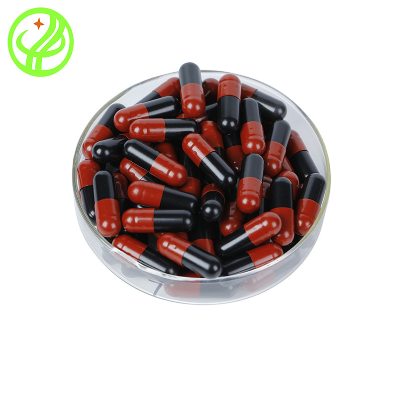 Red and black-HPMC capsule