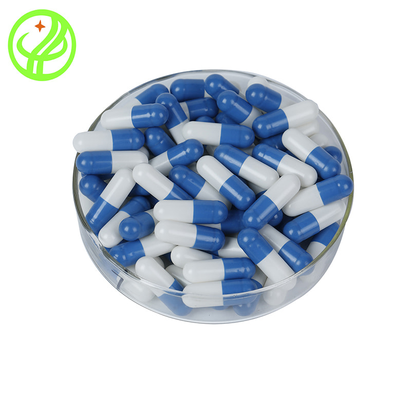white and blue-HPMC capsule