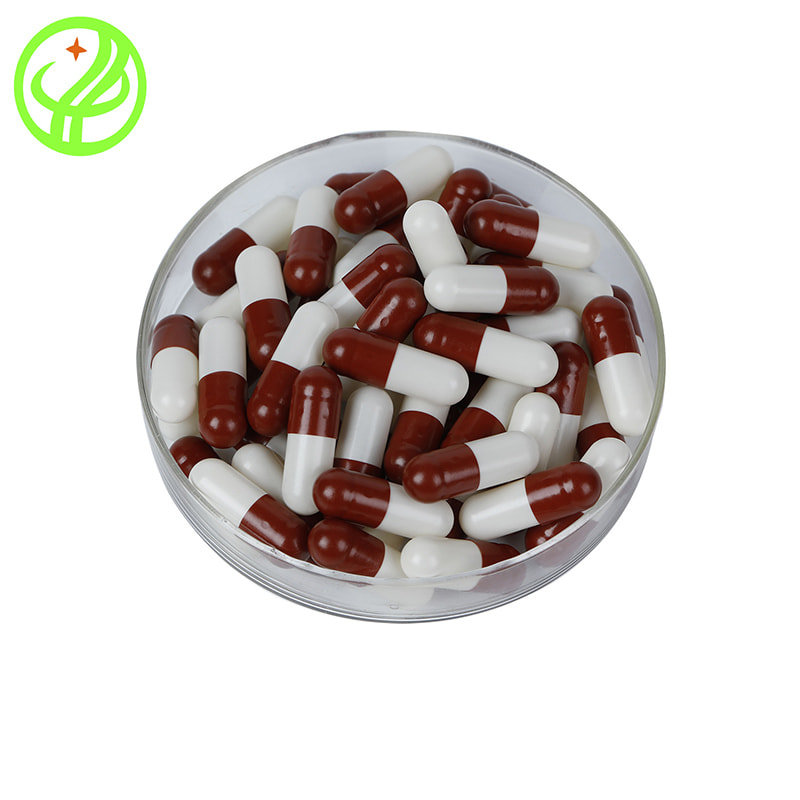 Red and white-HPMC capsule